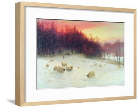 When the West with Evening Glows, Exh.1910-Joseph Farquharson-Framed Art Print