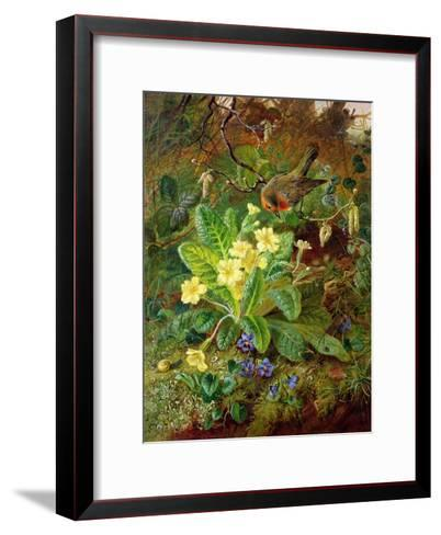Primrose and Robin-William John Wainwright-Framed Art Print