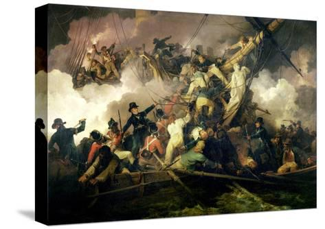 The Cutting-Out of the French Corvette, 'La Chevrette', 21st July 1801-Philip James De Loutherbourg-Stretched Canvas Print