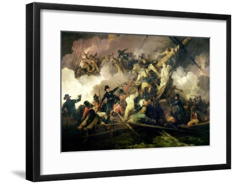 The Cutting-Out of the French Corvette, 'La Chevrette', 21st July 1801-Philip James De Loutherbourg-Framed Art Print
