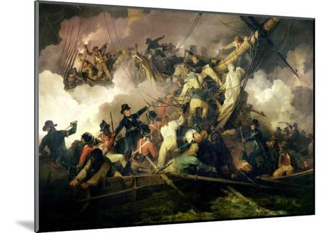 The Cutting-Out of the French Corvette, 'La Chevrette', 21st July 1801-Philip James De Loutherbourg-Mounted Giclee Print