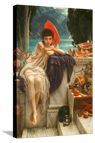 On the Temple Steps, 1889-Edward John Poynter-Stretched Canvas Print