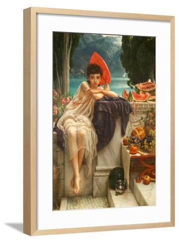 On the Temple Steps, 1889-Edward John Poynter-Framed Art Print