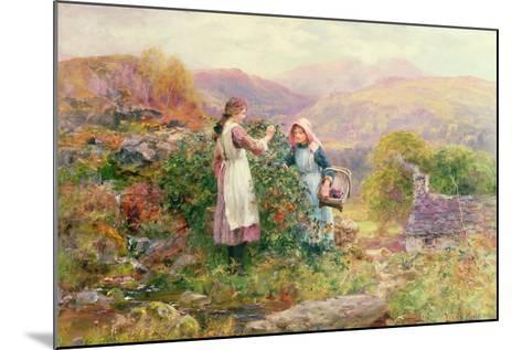 Blackberry Gatherers-Henry John Yeend King-Mounted Giclee Print