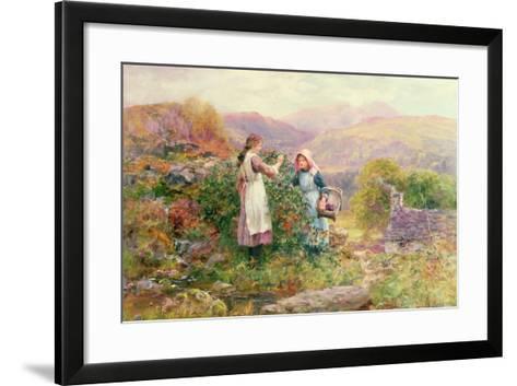 Blackberry Gatherers-Henry John Yeend King-Framed Art Print