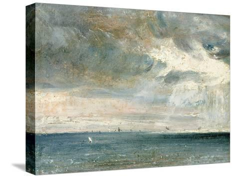 Study of Sea and Sky (A Storm Off the South Coast)-John Constable-Stretched Canvas Print