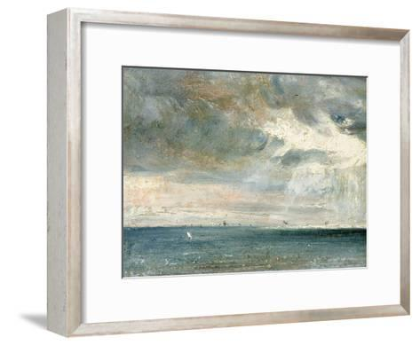 Study of Sea and Sky (A Storm Off the South Coast)-John Constable-Framed Art Print
