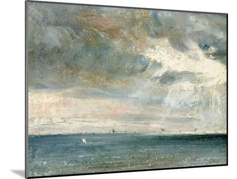 Study of Sea and Sky (A Storm Off the South Coast)-John Constable-Mounted Giclee Print