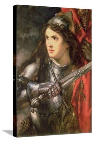 Joan of Arc (C.1412-31)-Sir John Gilbert-Stretched Canvas Print