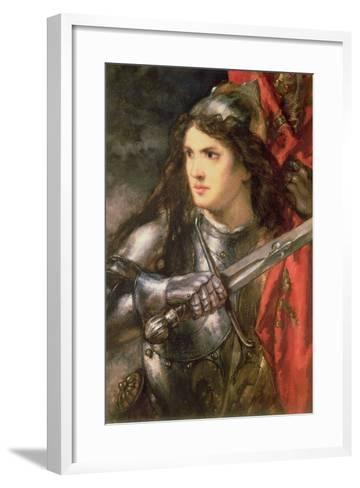Joan of Arc (C.1412-31)-Sir John Gilbert-Framed Art Print