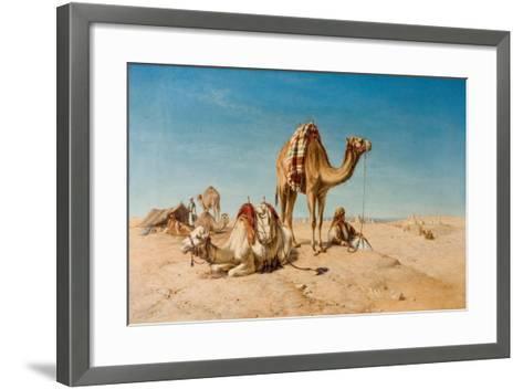 A Halt in the Desert, 1867-William Snr. Luker-Framed Art Print