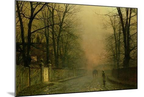 Where the Pale Moonbeams Linger-John Atkinson Grimshaw-Mounted Giclee Print