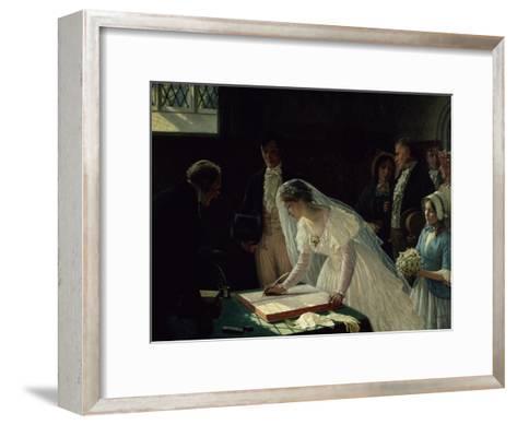 Signing the Register-Edmund Blair Leighton-Framed Art Print