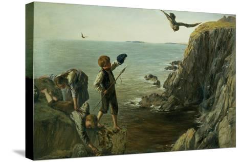 The Bonxie, Shetland, 1873-James Clarke Hook-Stretched Canvas Print