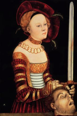 Judith-Lucas Cranach the Elder-Stretched Canvas Print