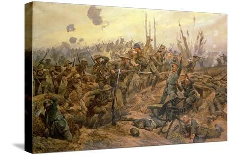 The Battle of the Somme-Richard Caton Woodville II-Stretched Canvas Print