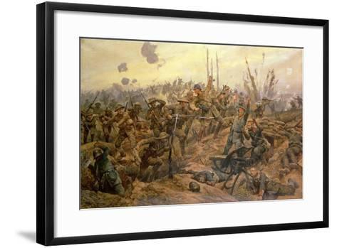 The Battle of the Somme-Richard Caton Woodville II-Framed Art Print