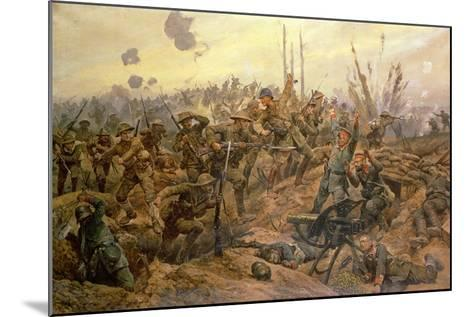The Battle of the Somme-Richard Caton Woodville II-Mounted Giclee Print