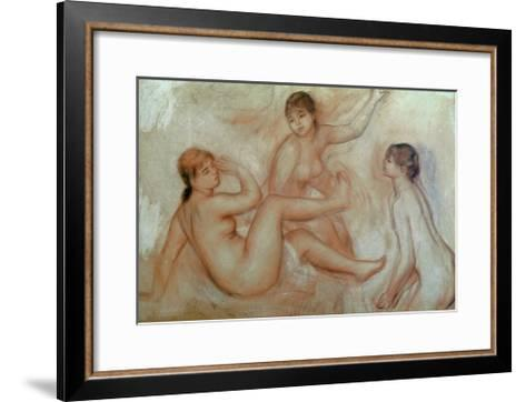 Bathers, C.1887-Pierre-Auguste Renoir-Framed Art Print