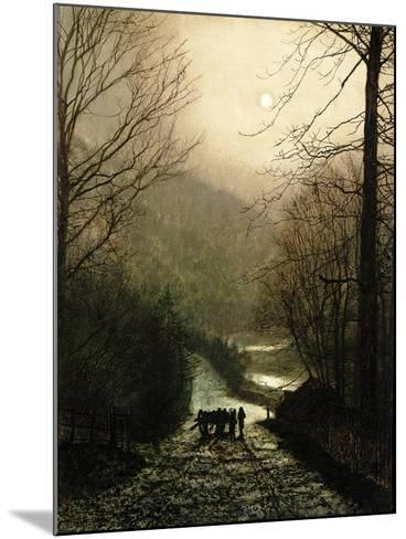The Timber Waggon-John Atkinson Grimshaw-Mounted Giclee Print