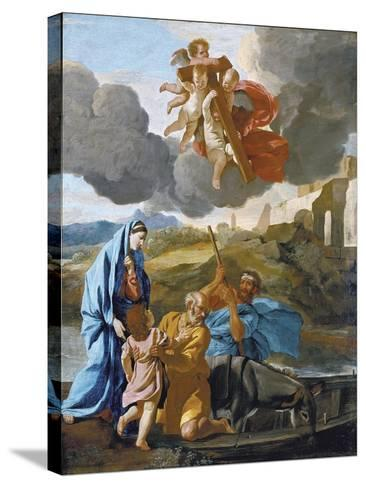 The Return of the Holy Family from Egypt-Nicolas Poussin-Stretched Canvas Print