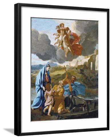 The Return of the Holy Family from Egypt-Nicolas Poussin-Framed Art Print