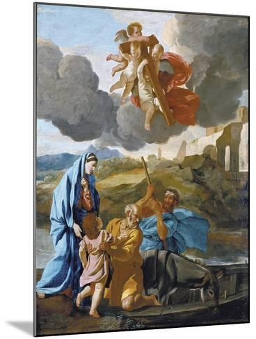 The Return of the Holy Family from Egypt-Nicolas Poussin-Mounted Giclee Print
