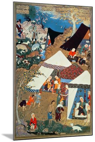 Or 2265 Folio 1576 Camp Scene by Mir Sayyid'Ali, from the 'Khamsa' of Nizami, Tabriz, 1539-43--Mounted Giclee Print