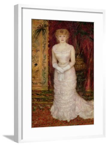 Portrait of Jeanne Samary (1857-90) 1878-Pierre-Auguste Renoir-Framed Art Print