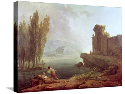 Landscape-Hubert Robert-Stretched Canvas Print