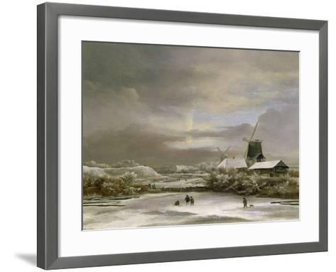 Winter Landscape-Jacob Isaaksz^ Or Isaacksz^ Van Ruisdael-Framed Art Print