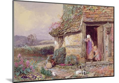 At the Cottage Door-Myles Birket Foster-Mounted Giclee Print