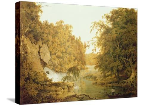 Dovedale, the Peak District-Joseph Wright of Derby-Stretched Canvas Print