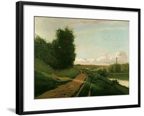 The Tow Path at Bougival, 1864-Camille Pissarro-Framed Art Print