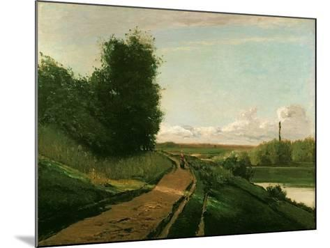 The Tow Path at Bougival, 1864-Camille Pissarro-Mounted Giclee Print