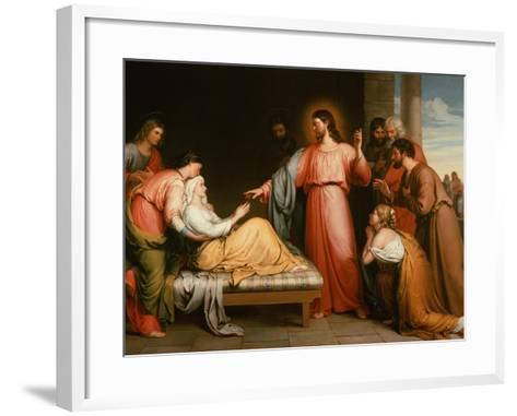 Christ Healing the Mother of Simon Peter-John Bridges-Framed Art Print