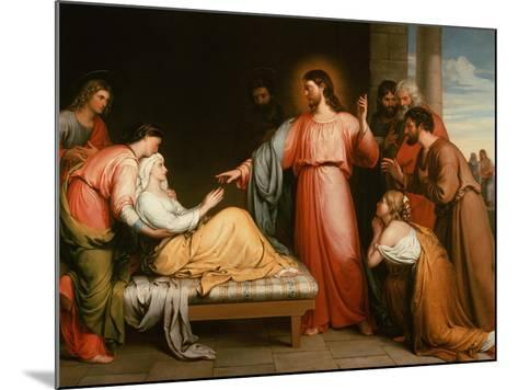Christ Healing the Mother of Simon Peter-John Bridges-Mounted Giclee Print