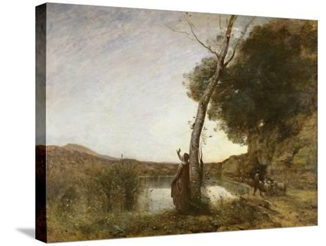 The Shepherd's Star, 1864-Jean-Baptiste-Camille Corot-Stretched Canvas Print