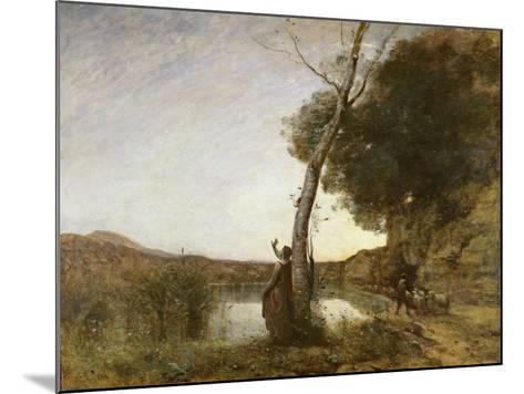 The Shepherd's Star, 1864-Jean-Baptiste-Camille Corot-Mounted Giclee Print
