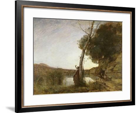 The Shepherd's Star, 1864-Jean-Baptiste-Camille Corot-Framed Art Print