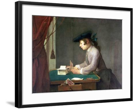 The House of Cards-Jean-Baptiste Simeon Chardin-Framed Art Print