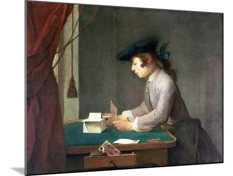 The House of Cards-Jean-Baptiste Simeon Chardin-Mounted Giclee Print