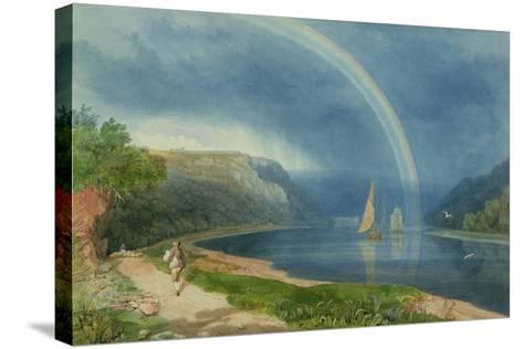 Rainbow on the River Avon, C.1825-Samuel Jackson-Stretched Canvas Print