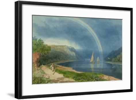 Rainbow on the River Avon, C.1825-Samuel Jackson-Framed Art Print