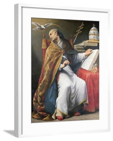 St. Gregory-Andrea Sacchi-Framed Art Print