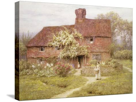 Rose Cottage, Shottermill-Helen Allingham-Stretched Canvas Print