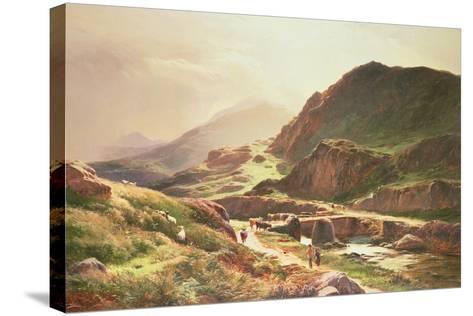 Highland Scene-Sidney Richard Percy-Stretched Canvas Print