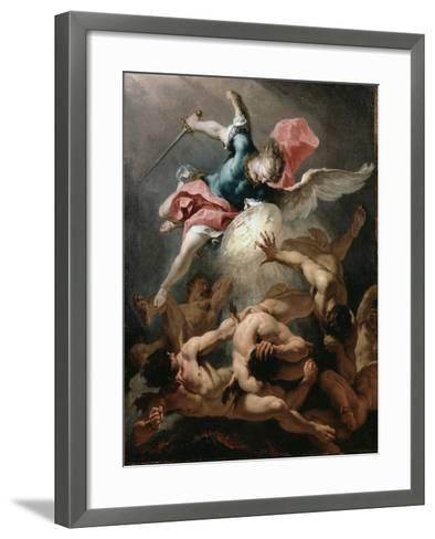 The Fall of the Rebel Angels, C.1720-Sebastiano Ricci-Framed Art Print
