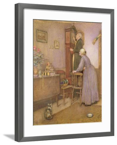 The Old Clock, 1863-George John Pinwell-Framed Art Print
