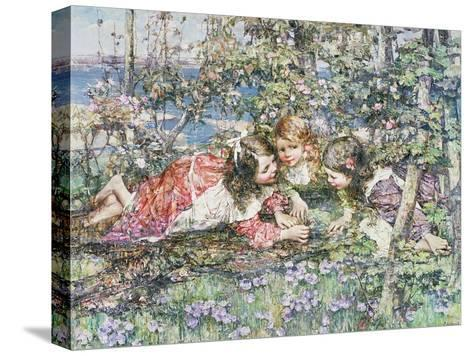 A Summer Idyll-Edward Atkinson Hornel-Stretched Canvas Print